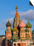 St. Basils Cathedral, Red Square, UNESCO World Heritage Site, Moscow, Russia, Europe Prints by Lawrence Graham