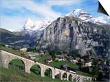 Murren, Eiger, Monch and Jungfrau, Bernese Oberland, Switzerland Posters by Hans Peter Merten