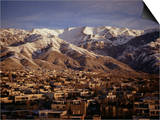 Towchal Range Behind the City, Tehran, Iran, Middle East Art by Desmond Harney