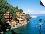Portofino, Liguria, Italy, Mediterranean Plakat af Oliviero Olivieri