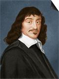 Rene Descartes, French Philosopher Print by Maria Platt-Evans