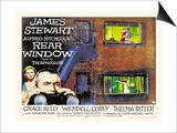 Rear Window, UK Movie Poster, 1954 Umění