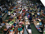 Floating Market, Near Bangkok, Thailand, Southeast Asia Posters by Liba Taylor