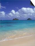 Cloud Filled Sky Over Blue Sea, Lanikai, Oahu, HI Prints by Mitch Diamond