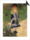 A Girl with a Watering Can, 1876 Prints by Pierre-Auguste Renoir