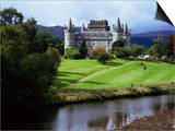 Inveraray Castle, Argyll, Highland Region, Scotland, United Kingdom Prints by Kathy Collins