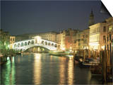 The Grand Canal and Rialto Bridge at Dusk, Venice, Unesco World Heritage Site, Veneto, Italy Posters by Sergio Pitamitz