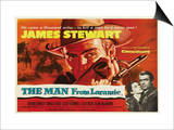 The Man From Laramie, UK Movie Poster, 1955 Print
