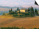 Sunrise Near San Quirico D'Orcia, Val D'Orcia, Siena Province, Tuscany, Italy, Europe Posters by Sergio Pitamitz