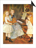 The Daughters of Catulle Mendes, 1888 Art by Pierre-Auguste Renoir