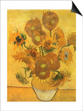 Vase with Sunflowers, 1889 Posters by Vincent van Gogh