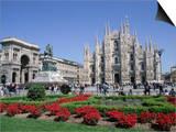 Piazza Del Duomo, Milan, Lombardy, Italy Art by Hans Peter Merten
