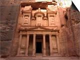 Morning Light on the Treasury, Petra, Unesco World Heritage Site, Wadi Musa, Jordan Print by Christian Kober