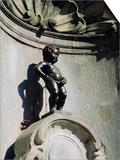 Manneken Pis Statue, Brussels, Belgium Prints by Nigel Francis