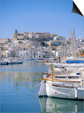 Ibiza Town and Harbour, Ibiza, Balearic Islands, Spain, Europe Posters by Firecrest Pictures