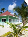 Beach Hut, Bavaro Beach, Punta Cana, Dominican Republic, West Indies, Caribbean, Central America Prints by Frank Fell