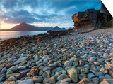 Sunset at Elgol Beach on Loch Scavaig, Cuillin Mountains, Isle of Skye, Scotland Prints by Chris Hepburn
