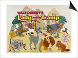Lady and the Tramp, UK Movie Poster, 1955 Prints
