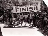 Runners Approaching the Finish Line in Central Park. During the 1972 New York City Marathon Prints