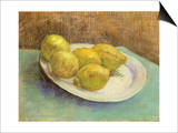 Still Life with Lemons on a Plate, 1887 Posters by Vincent van Gogh