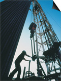 Roughneck Working on Oil Rig Posters by Stephen Collector