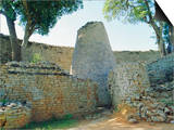 The Ruins of Great Zimbabwe, Zimbabwe Kunstdruck von I Vanderharst