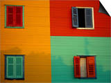 Colourful Buildings in La Boca District, Buenos Aires, Argentina Posters by Louise Murray