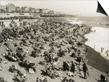 The Beach at Brighton, Sussex (1930) Prints