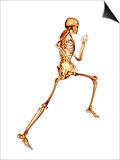 Skeleton Running Print by  PASIEKA