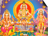 Picture of Hindu Gods Ganesh, Ayappa and Subramania, India, Asia Prints by  Godong