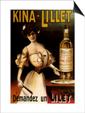 Kina-Lillet: Demandez Un Lilet, c.1899 Posters by  Robys (Robert Wolff)