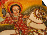 Mural Painting in the Church of Narga Selassie,Dek Island on Lake Tana, Ethiopia, Africa Poster by J P De Manne