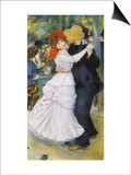 Dance at Bougival, 1883 Posters by Pierre-Auguste Renoir