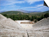 Ancient Greek Theatre, Epidaurus, Unesco World Heritage Site, Peloponnese, Greece, Europe Plakater af Oliviero Olivieri