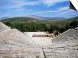 Ancient Greek Theatre, Epidaurus, Unesco World Heritage Site, Peloponnese, Greece, Europe Prints by Oliviero Olivieri