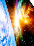Solar Flare Threatening Earth Posters by Victor Habbick