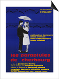 The Umbrellas of Cherbourg, French Movie Poster, 1964 Art