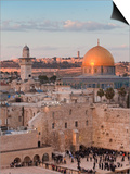 Dome of the Rock and the Western Wall, Jerusalem, Israel, Middle East Art by Michael DeFreitas