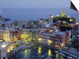 Village of Vernazza in the Evening, Cinque Terre, Unesco World Heritage Site, Liguria, Italy Posters by Bruno Morandi