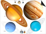 Solar System Planets Poster by Victor Habbick