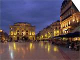 Pavement Cafes on the Place De La Comedie, Montpellier, Languedoc Roussillon, France Art by Miller John