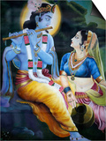 Picture of Hindu Gods Krishna and Rada, India, Asia Print by  Godong