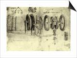 View of a Hoist Prints by  Leonardo da Vinci