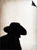 Silhouette of Cowboy Art by April Bauknight