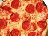 Close-up of Pepperoni Pizza Posters by Mitch Diamond