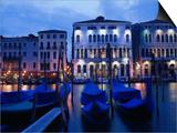 Gondolas, Venice, Italy Poster von Peter Adams