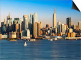 View of Midtown Manhattan across the Hudson River, Manhattan, New York City, New York, United State Art by Gavin Hellier