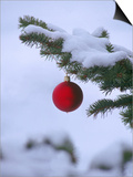 X Mas Ornament on Tree Prints by Mike Robinson