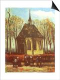 Chapel and Churchgoers, 1884 Print by Vincent van Gogh