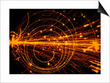 Streamer Chamber Photo of Oxygen Ion Collision Prints by  Cern